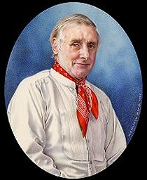 Spike Milligan by Bill Mundy Portrait Artist